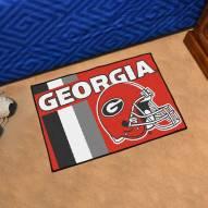 Georgia Bulldogs Uniform Inspired Starter Rug