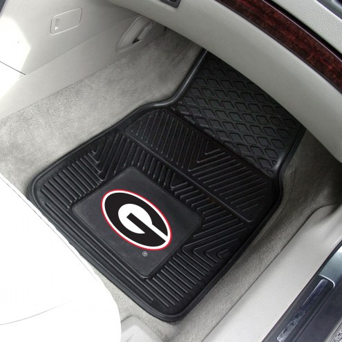 Georgia Bulldogs Vinyl 2-Piece Car Floor Mats