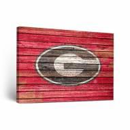 Georgia Bulldogs Weathered 1 Canvas Wall Art