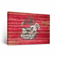 Georgia Bulldogs Weathered 2 Canvas Wall Art