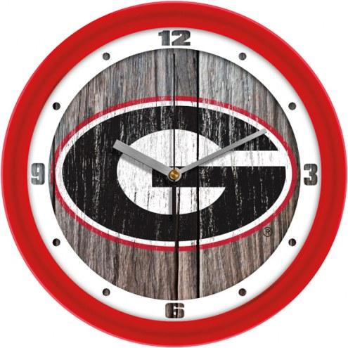 Georgia Bulldogs Weathered Wall Clock