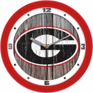 Georgia Bulldogs Weathered Wall Clock