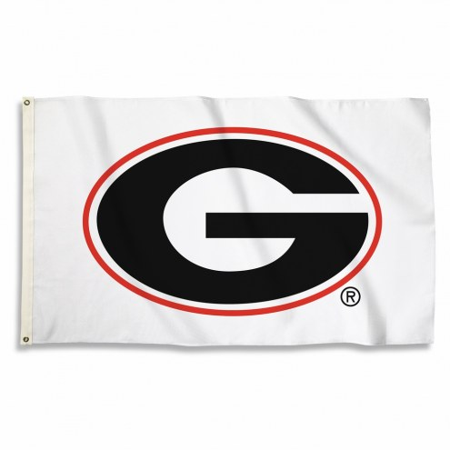 Georgia Bulldogs White 3' x 5' Flag