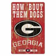 Georgia Bulldogs Slogan Wood Sign