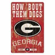 Georgia Bulldogs Slogan Wood Sign