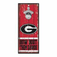 Georgia Bulldogs Wood Bottle Opener