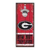 Georgia Bulldogs Wood Bottle Opener