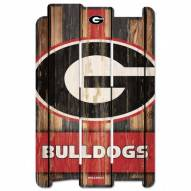 Georgia Bulldogs Wood Fence Sign