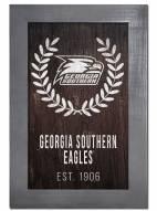 "Georgia Southern Eagles 11"" x 19"" Laurel Wreath Framed Sign"