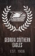 "Georgia Southern Eagles 11"" x 19"" Laurel Wreath Sign"