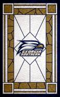 "Georgia Southern Eagles 11"" x 19"" Stained Glass Sign"