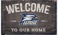 """Georgia Southern Eagles 11"""" x 19"""" Welcome to Our Home Sign"""