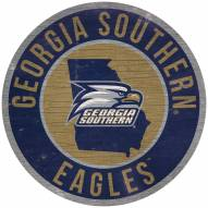 """Georgia Southern Eagles 12"""" Circle with State Sign"""