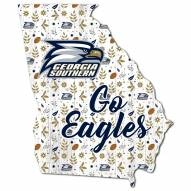 """Georgia Southern Eagles 12"""" Floral State Sign"""