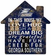 "Georgia Southern Eagles 12"" House Sign"