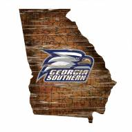 "Georgia Southern Eagles 12"" Roadmap State Sign"