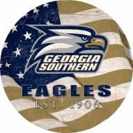 "Georgia Southern Eagles 12"" Team Color Flag Circle Sign"