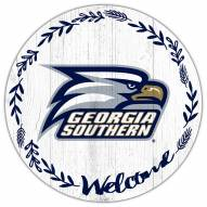 "Georgia Southern Eagles 12"" Welcome Circle Sign"