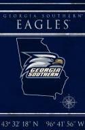 "Georgia Southern Eagles 17"" x 26"" Coordinates Sign"