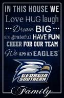 "Georgia Southern Eagles 17"" x 26"" In This House Sign"