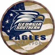 "Georgia Southern Eagles 24"" Flag Barrel Top"