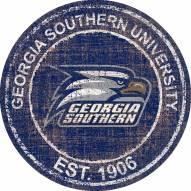 "Georgia Southern Eagles 24"" Heritage Logo Round Sign"