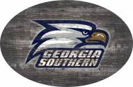 """Georgia Southern Eagles 46"""" Distressed Wood Oval Sign"""