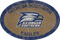 "Georgia Southern Eagles 46"" Team Color Oval Sign"