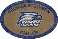 "Georgia Southern Eagles 46"" Team Color Oval Sign"