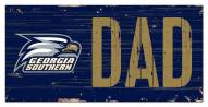 "Georgia Southern Eagles 6"" x 12"" Dad Sign"