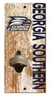 """Georgia Southern Eagles 6"""" x 12"""" Distressed Bottle Opener"""