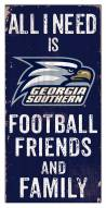 """Georgia Southern Eagles 6"""" x 12"""" Friends & Family Sign"""