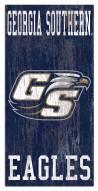 "Georgia Southern Eagles 6"" x 12"" Heritage Logo Sign"