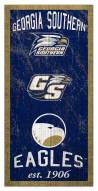 "Georgia Southern Eagles 6"" x 12"" Heritage Sign"