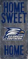 "Georgia Southern Eagles 6"" x 12"" Home Sweet Home Sign"