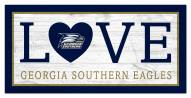 "Georgia Southern Eagles 6"" x 12"" Love Sign"