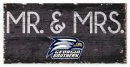 "Georgia Southern Eagles 6"" x 12"" Mr. & Mrs. Sign"