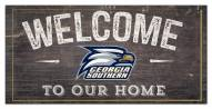 "Georgia Southern Eagles 6"" x 12"" Welcome Sign"