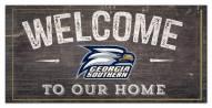 "Georgia Southern Eagles 6"" x 12"" Welcome Sign"