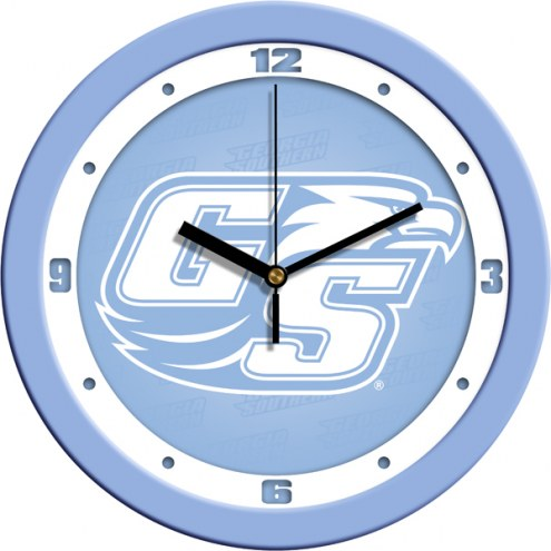 Georgia Southern Eagles Baby Blue Wall Clock