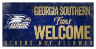 Georgia Southern Eagles Fans Welcome Sign