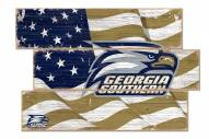 Georgia Southern Eagles Flag 3 Plank Sign