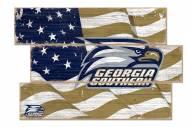 Georgia Southern Eagles Flag 3 Plank Sign