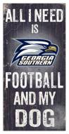 Georgia Southern Eagles Football & My Dog Sign