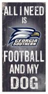 Georgia Southern Eagles Football & My Dog Sign