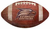 Georgia Southern Eagles Football Shaped Sign