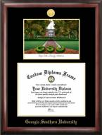 Georgia Southern Eagles Gold Embossed Diploma Frame with Campus Images Lithograph