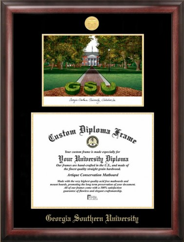 Georgia Southern Eagles Gold Embossed Diploma Frame with Lithograph