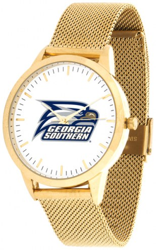 Georgia Southern Eagles Gold Mesh Statement Watch