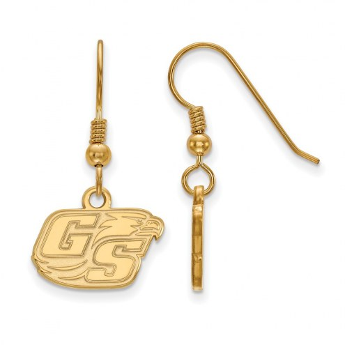 Georgia Southern Eagles Sterling Silver Gold Plated Extra Small Dangle Earrings